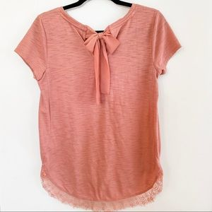 Lauren Conrad Lace and Bow Tunic
